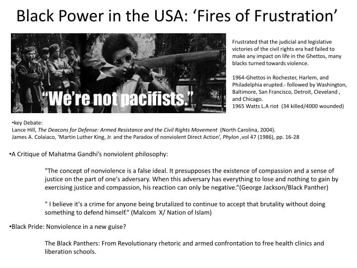 Black power in the usa fires of frustration