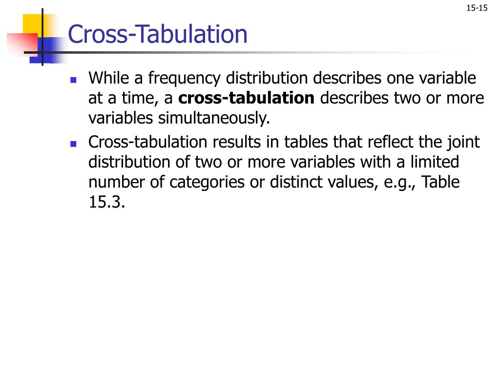 Cross-Tabulation