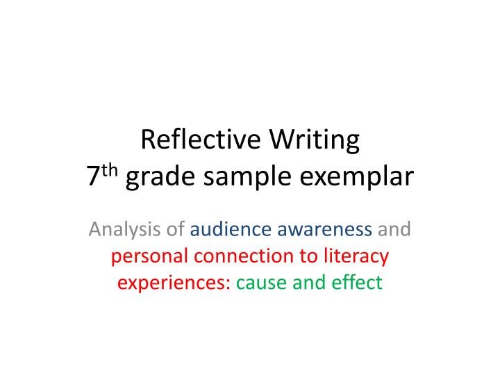 reflective writing on marketing Individual reflection report on a i have been asked by university management to write an individual reflective journal on my strong area was marketing.