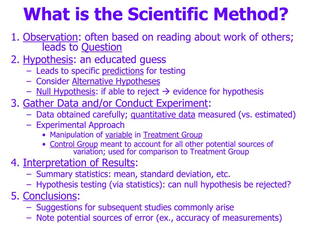 what is the scientific method l.