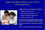 addressing medical home issues in your grant application