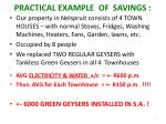 practical example of savings