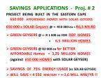 savings applications proj 2