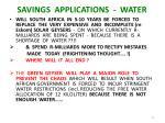 savings applications water