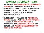 savings summary extra