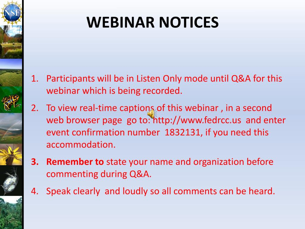 Participants will be in Listen Only mode until Q&A for this webinar which is being recorded.