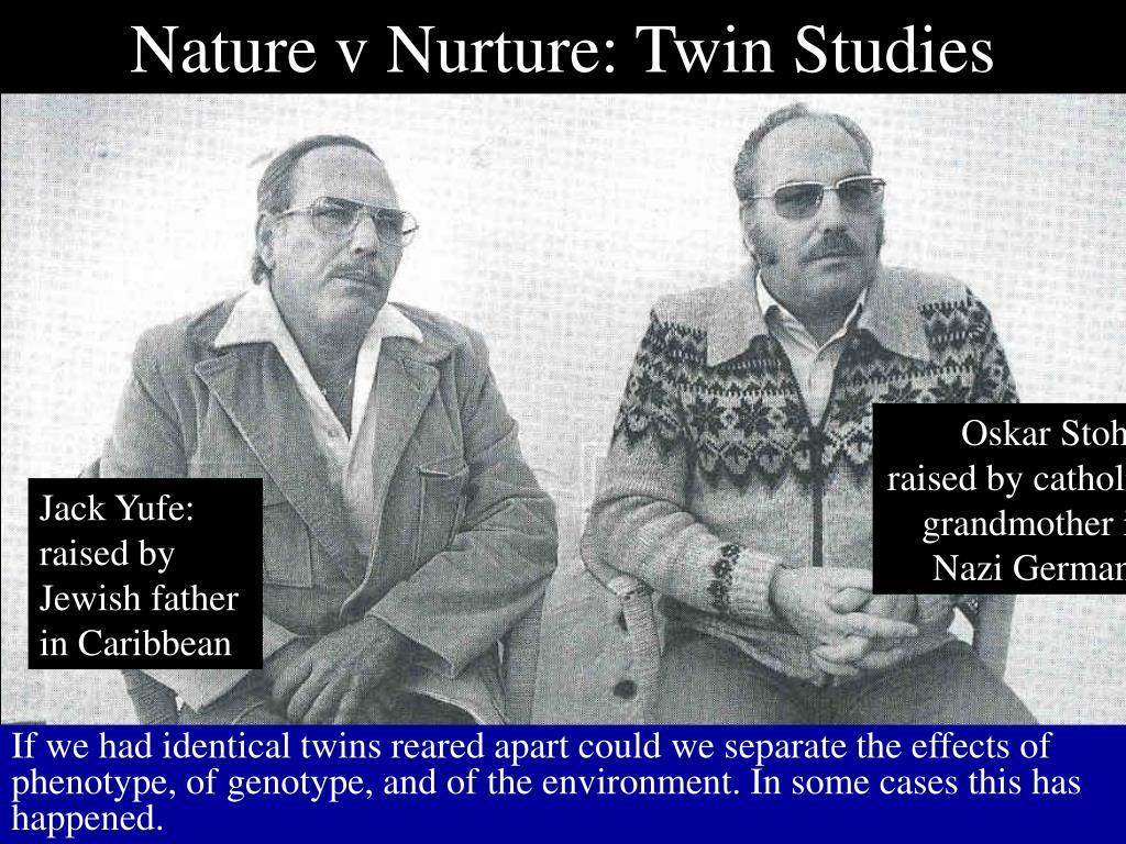 Nature v Nurture: Twin Studies