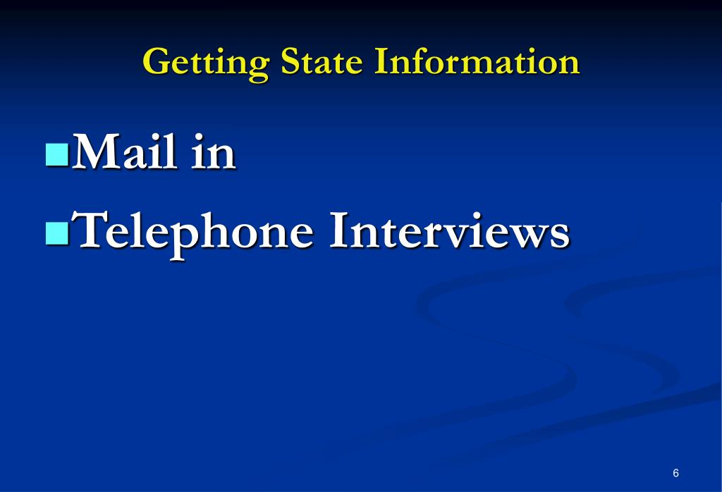 Getting State Information