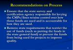 recommendations on process22