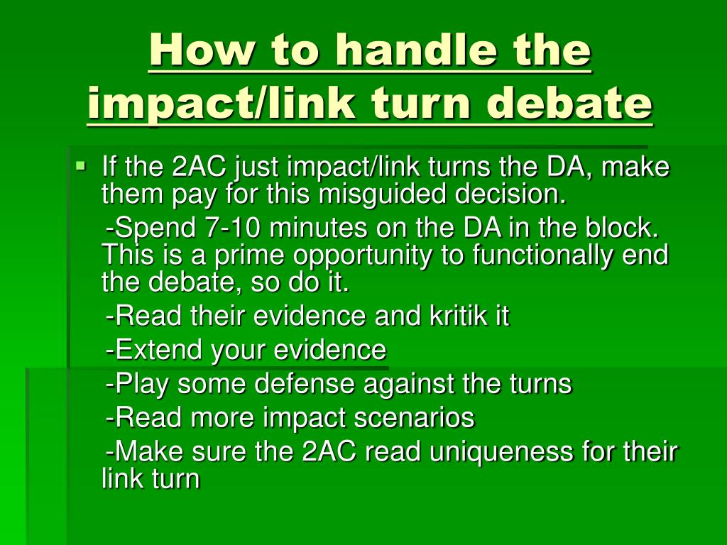How to handle the impact/link turn debate