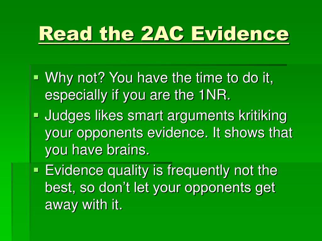 Read the 2AC Evidence