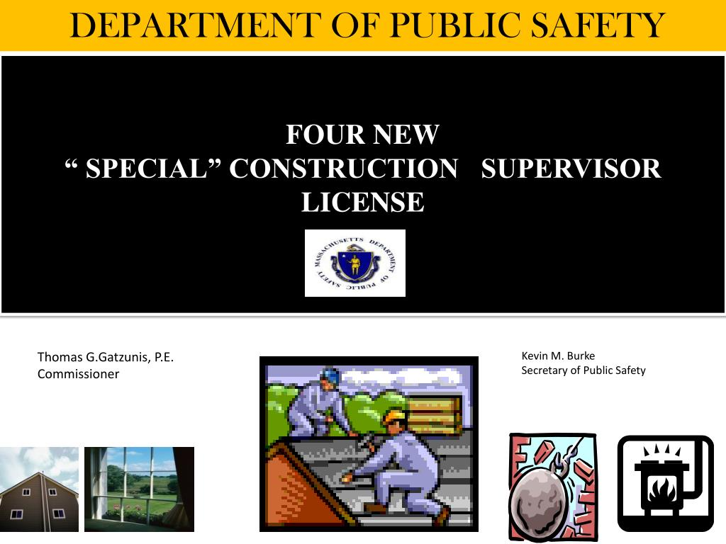 four new special construction supervisor license l.