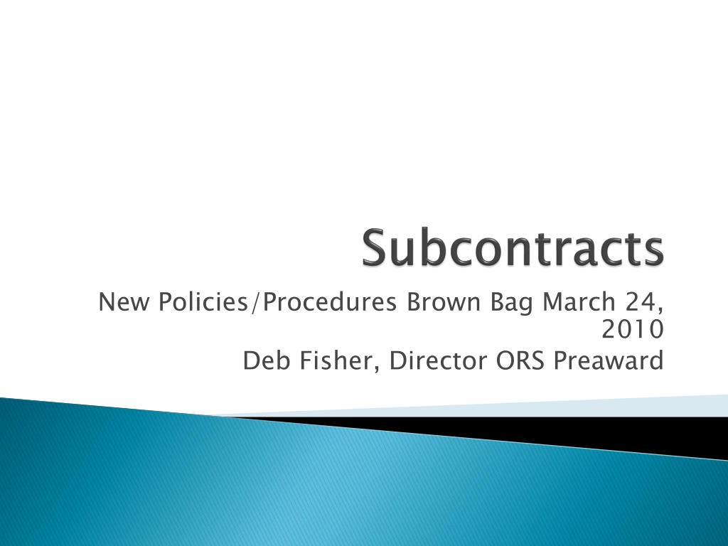 subcontracts l.