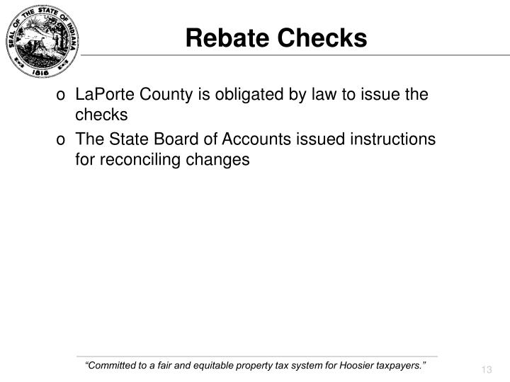 Rebate Checks