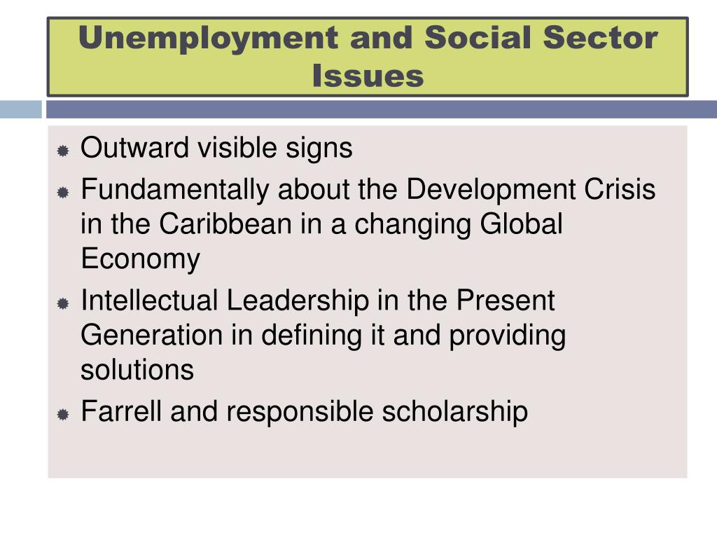 Unemployment and Social Sector Issues