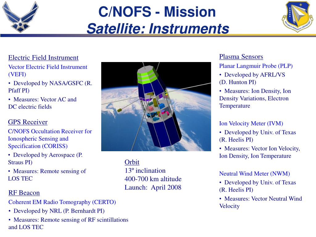 C/NOFS - Mission