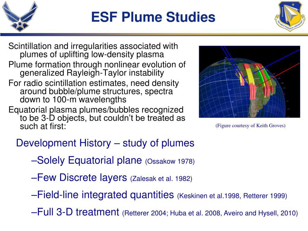 ESF Plume Studies