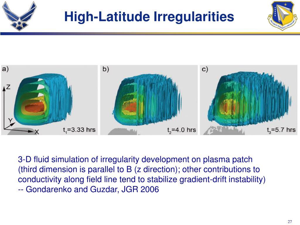 High-Latitude Irregularities