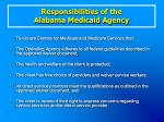responsibilities of the alabama medicaid agency