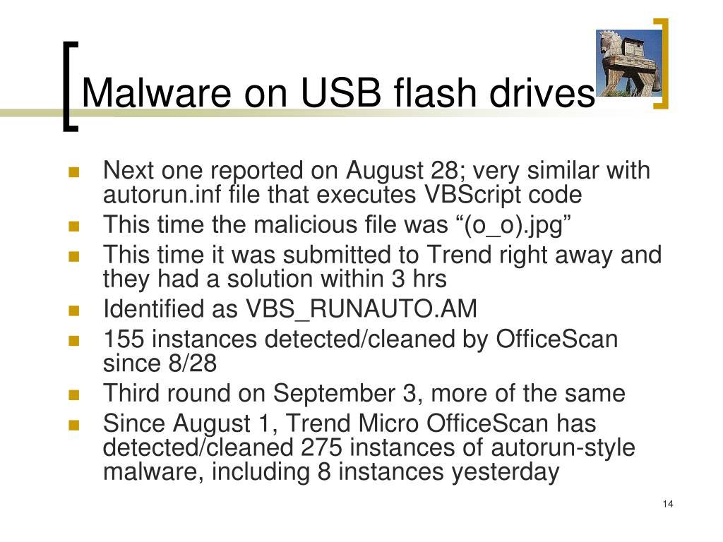 Malware on USB flash drives