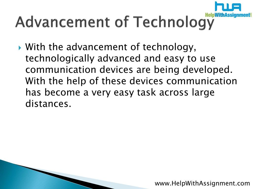Advancement of