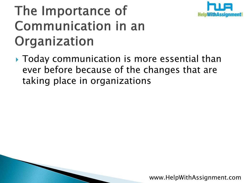 The Importance of Communication in an  Organization