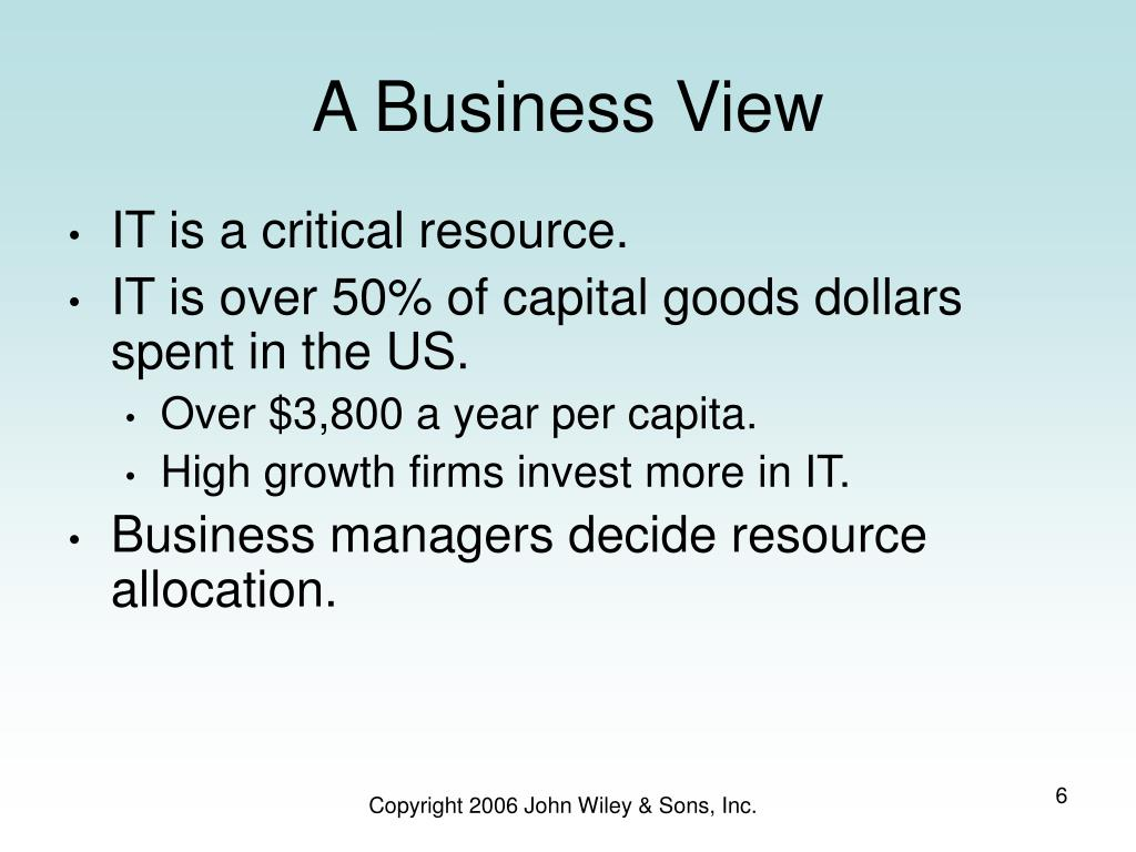 A Business View
