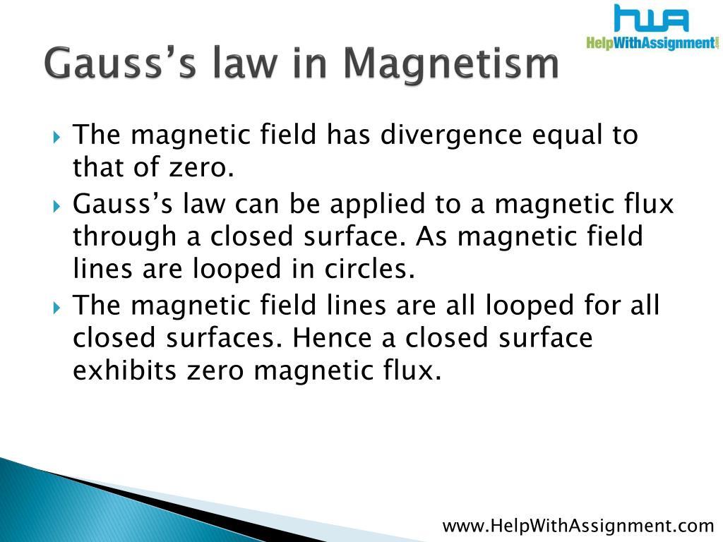 Gauss's law in