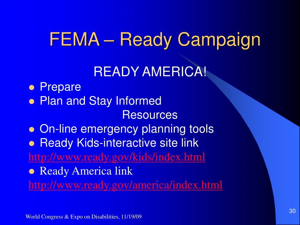 FEMA – Ready Campaign