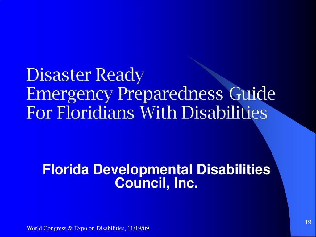 Florida Developmental Disabilities Council, Inc.