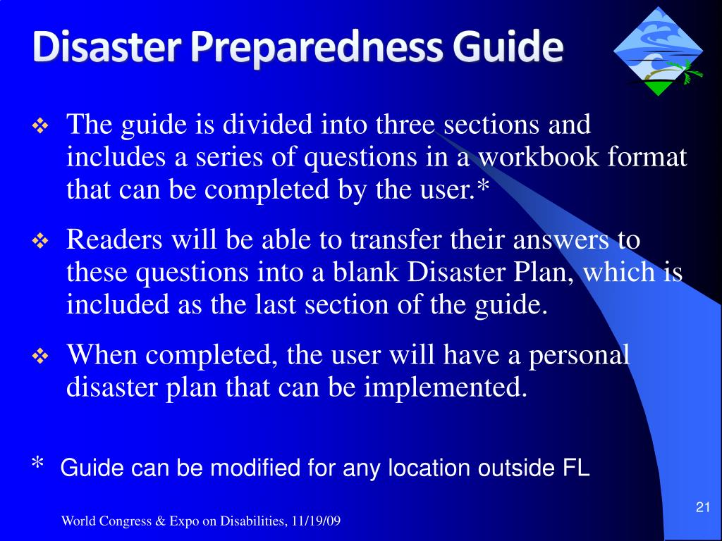 The guide is divided into three sections and includes a series of questions in a workbook format that can be completed by the user.*
