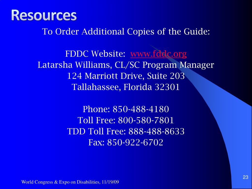 To Order Additional Copies of the Guide: