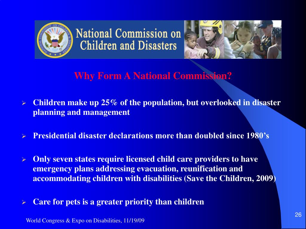 Why Form A National Commission?