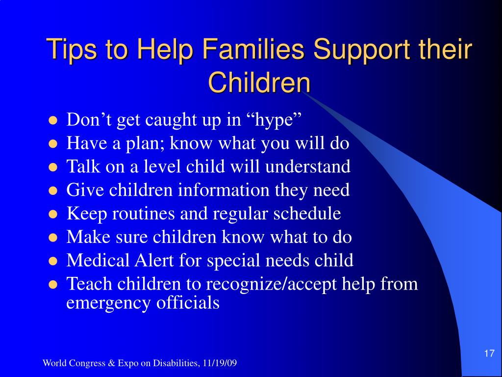 Tips to Help Families Support their Children