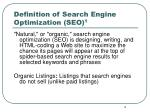 definition of search engine optimization seo 1