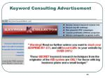 keyword consulting advertisement