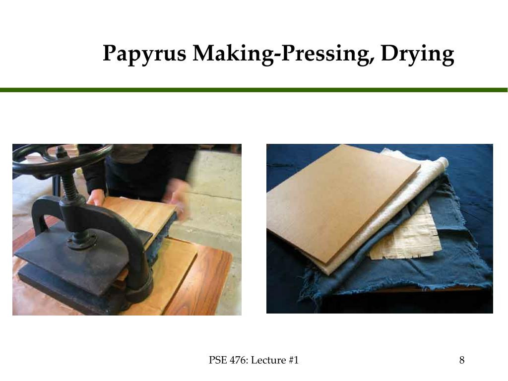 Papyrus Making-Pressing, Drying