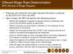 offered wage rate determination npc review of wage request
