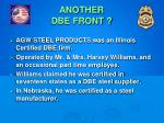 another dbe front