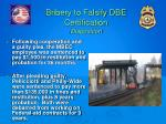 bribery to falsify dbe certification disposition