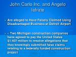 john carlo inc and angelo iafrate