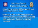 minority owned business example