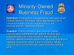 minority owned business fraud