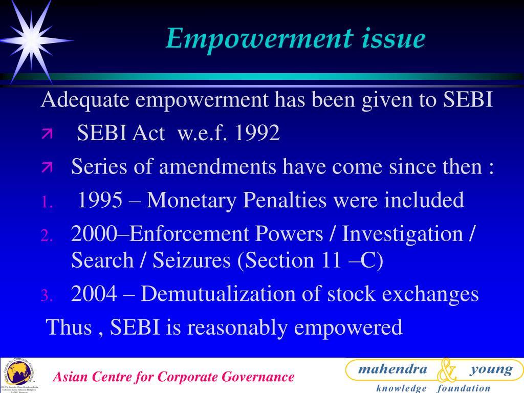 Empowerment issue