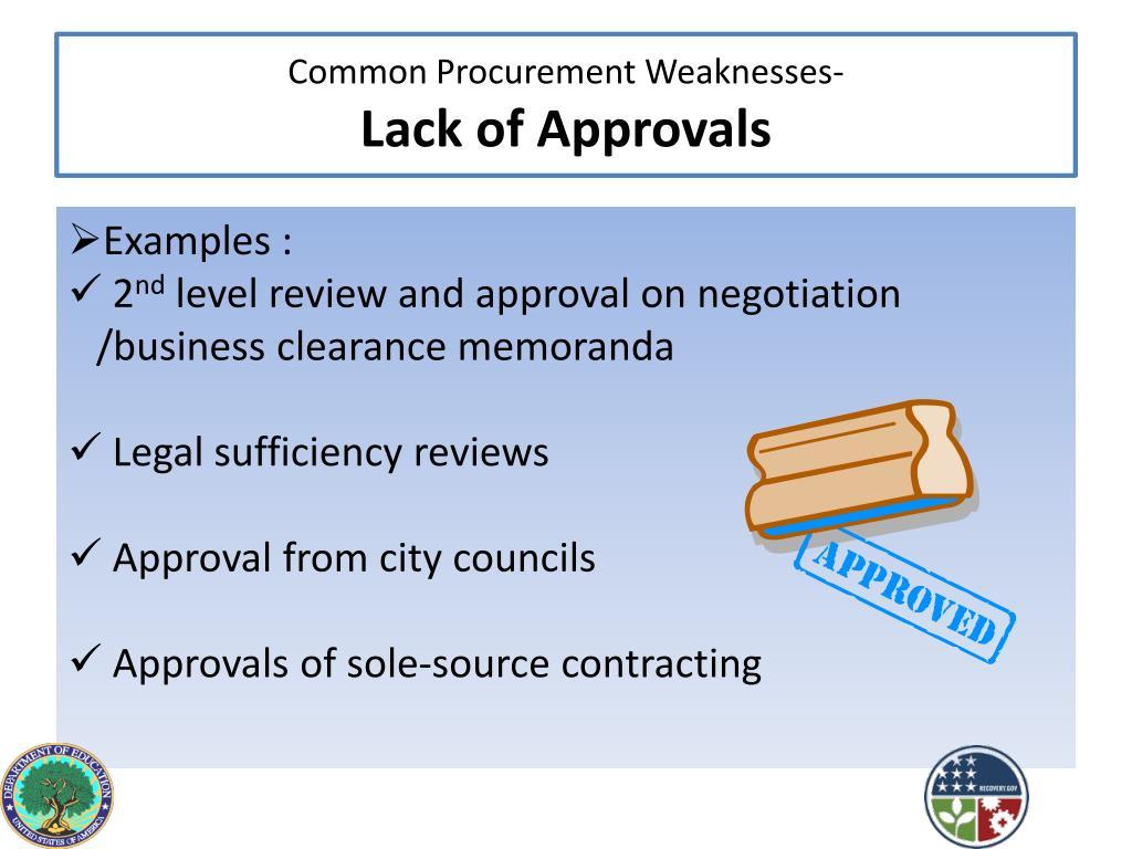 Common Procurement Weaknesses-