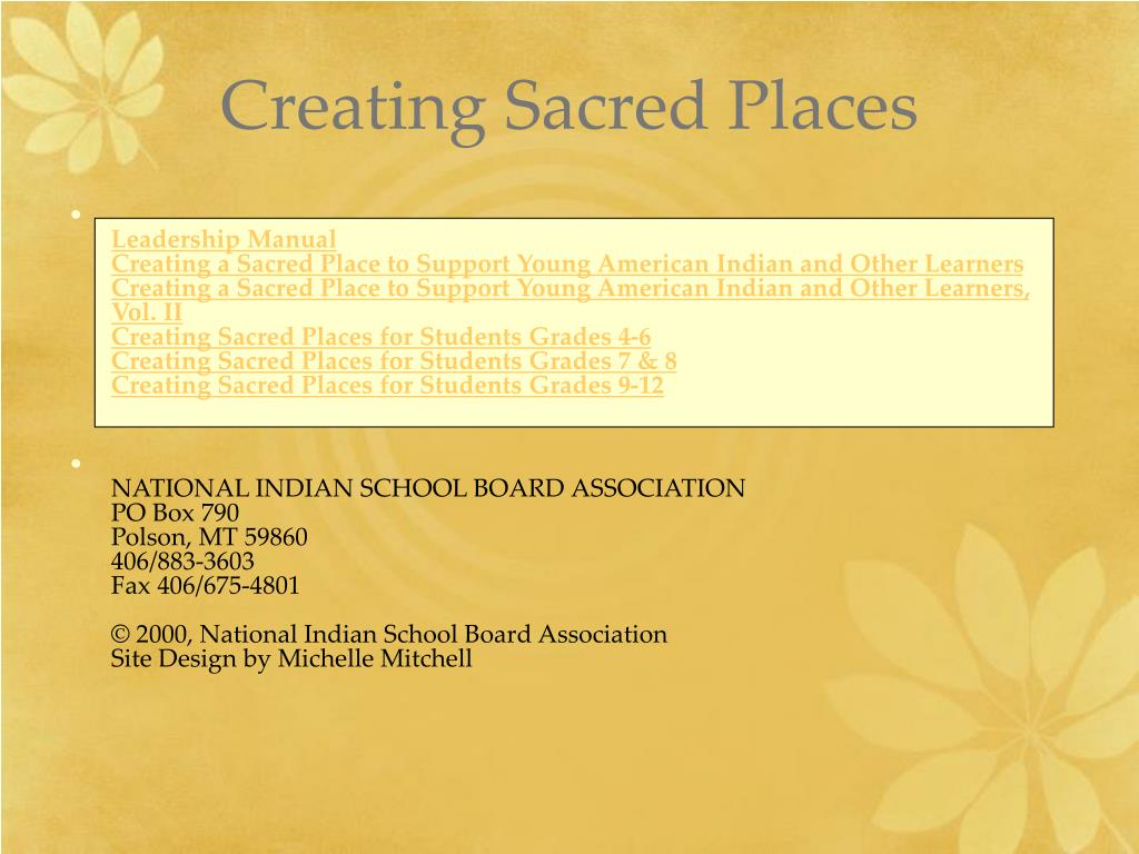 Creating Sacred Places