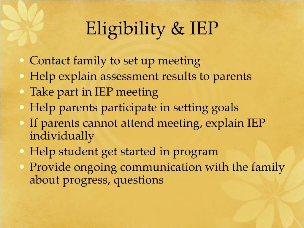Eligibility & IEP