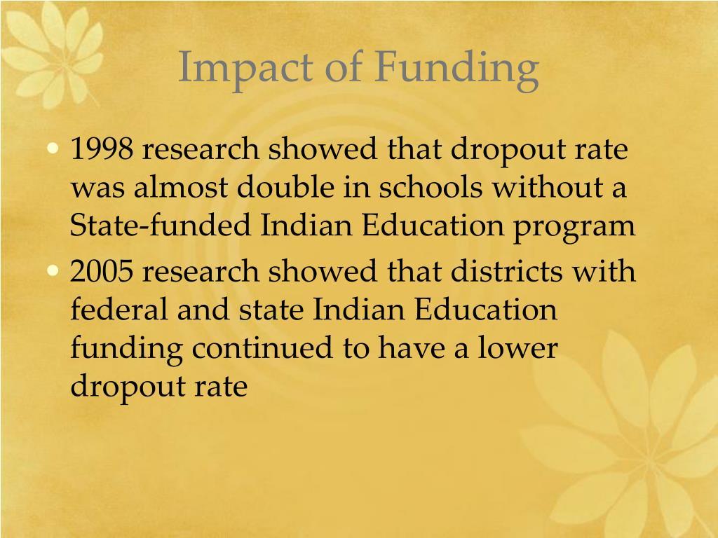 Impact of Funding