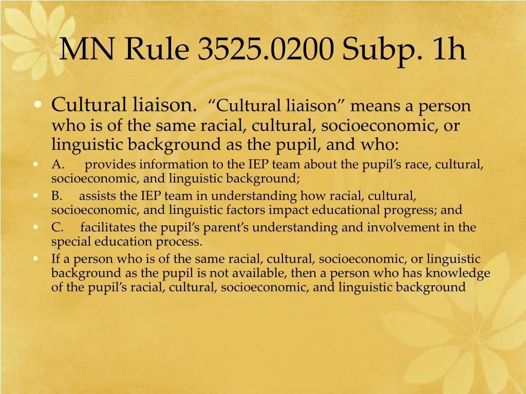 MN Rule 3525.0200 Subp. 1h