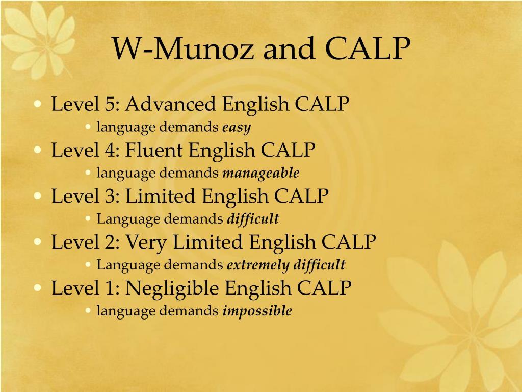 W-Munoz and CALP